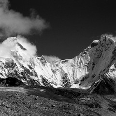 Himalayan morning! (onefastbiker) Tags: himalayas nepal everestbasecamp trek sagarmatha np olympusom4 ilfordpf4 yellowfilter film 2016
