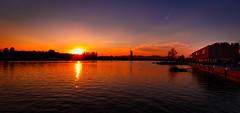 Vienna Sunset (Christian He) Tags: wien sonnenuntergang outdoor wasser himmel donau donauinsel insel millennium tower copa sonne dämmerung frühling canon 1022 80d