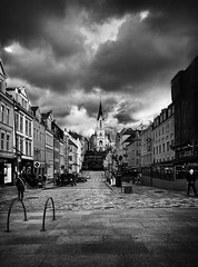 Church of John (Haraldinhio) Tags: landscape abstract street black white city fine art church norway urban monochrome bergen mood fineart photography contrast composition leading lines