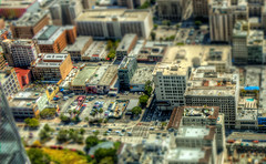 Broadway, Hill Streets Tilt Shift (Michael F. Nyiri) Tags: downtownlosangeles downtown losangeles cityscape city tiltshift california southerncalifornia arty