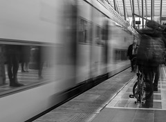 rush hour (Stijn Daniels) Tags: train trein liege guillemins luik gare station rush hour canon rebel blackandwhite black white zwartwit zwart wit nd ndfilter