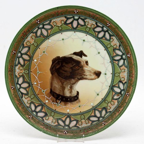 Nippon Jeweled Moriage Canine Portrait Plate ($252.00)
