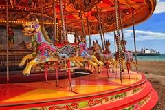The Carousel, Brighton Beach (jurassicjay) Tags: unitedkingdom uk greatbritain gb seaside sea fairground ride carousel eastsussex brighton palacepier pier coast beach spring sussex english england britishisles european europe eu british britain