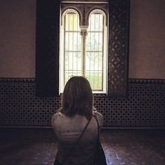 Light through the window in Alcazar! Seville Spain (saadia_khans) Tags: instagramapp square squareformat iphoneography uploaded:by=instagram rise