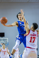 Doing the lay-up (BP Chua) Tags: player basketball sport action jump layup singapore easternlonglions hongkong guinsanity abl ablfinals aseanbasketballleague canon 1dx 70200mm blue