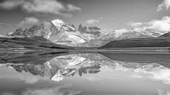 Torres del Paine, Patagonia, Chile (impodi@gmail.com) Tags: torresdelpaine patagonia chile blancoynegro bw bn monocromo travel landscape panoramica paisaje cordilleradelosandes montañas nieve lago agua nubes clouds