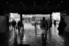 Collision (Joseph Dimartino) Tags: blackandwhite bw nyc coney island monochrome street streetphoto surreal ambiguous conceptual candid city dimensions exit escape fineart art light men women people space subway silhouette