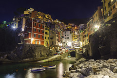 Lights in the night (M-Gianca) Tags: riomaggiore cinqueterre ngc carlzeiss