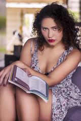 Irene (Harshal Orawala) Tags: 121clicks portrait girl beautiful book lips eyes tone look