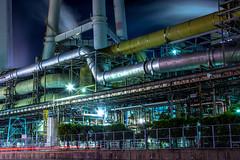 Daio Paper Mishima Mill (Hiro_A) Tags: daiopaper mill factory industry industrial iyomishima kawanoe shikoku shikokuchuo ehime japan night light plant nikon sigma d7200 1770mm 1770 伊予三島 大王製紙 工場夜景 エリエール