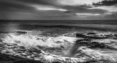 Four Mile Beach (Juan Pablo J.) Tags: monochrome blackandwhitephotography bw beach beautiful bridge nature naturephotography naturaleza naturepics seascape sony sunset sonya68 sundown s
