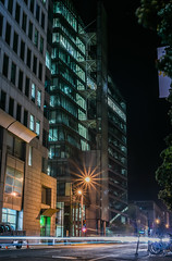 collected power (pbo31) Tags: sanfrancisco california nikon d810 color april 2017 spring boury pbo31 city urban night black dark lightstream motion traffic roadway infinity power company civiccenter architecture contemporary polkstreet water green