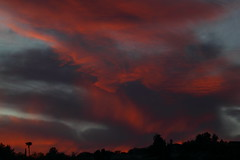 Sunset 4 13 2017 #08 (Az Skies Photography) Tags: sun set sunset dusk twilight nightfall cloud clouds sky skyline skyscape rio rico arizona az riorico rioricoaz arizonasky arizonaskyline arizonaskyscape arizonasunset red salmon black orange canon eos rebel t2i canoneosrebelt2i eosrebelt2i april 13 2017 april132017 41317 4132017