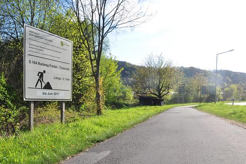Tharandt - Radweg Freital-Tharandt an der S 194