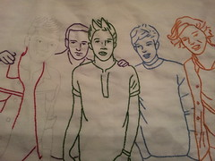 1D_group_f (aprilsongstressdesigns) Tags: portraits quilt embroidery 1d redwork onedirection harrystyles louistomlinson zaynmalik liampayne niallhoran aprilsongstress