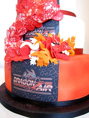 Dragon Cake (Couture Cakes & Dreams) Tags: birthday red white black cake corporate dragon celebration