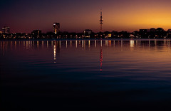 Hamburg at night (K.Michalsky) Tags: landscape hamburg alster hdr
