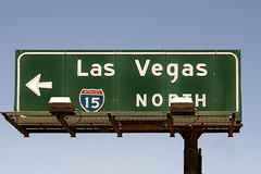 Las Vegas (Curtis Gregory Perry) Tags: california las vegas sign nikon highway north 15 button interstate arrow copy reflector barstow d800e