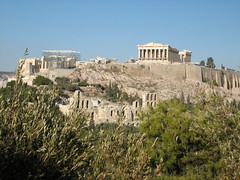 148 - Parthenon from Filipappas Hill (Scott Shetrone) Tags: forest other scenery events places athens parthenon greece monuments acropolis 5th anniversaries
