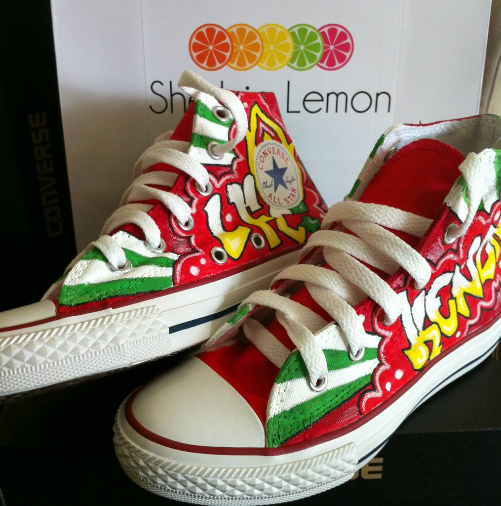 76c3d8b101d186 graffiti LFC custom converse (Sherbie lemon) Tags  red kids liverpool  graffiti football shoes