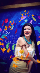 Colors of the Wind. (chris.alcoran) Tags: friends colors leaves photoshop john river lost typography flying long princess bend wind disneyland text smith disney just around pocahontas edit fantasyland meeko lightroom
