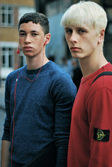 Tyler and Jos (Rosie Brazier) Tags: street portrait hot male guy london fashion model eyes streetphotography agency blonde headphones freckles cheekbones f18 backstage gfw amck amckmodels joswhiteman tylersheekey