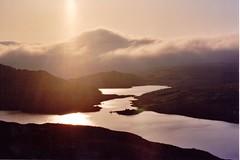 Dark is the night. (Ishbelle 31) Tags: white mountains dark grey evening scotland highlands purple scottish late loch torridon fishery inveralligan rayssky