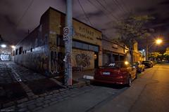 Untitled (Ranga 1) Tags: street longexposure nightphotography urban night canon graffiti lowlight streetlight nocturnal fitzroy australian australia melbourne victoria explore suburbs australianlandscape urbanlandscape nightexposure davidyoung lowlightphotography ef1740mmf4lusm innersuburbs innermelbourne canoneos5dmarkii