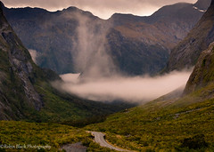 Driving Into Mordor (Fiordlands, New Zealand) (Robin Black Photography) Tags: road newzealand mist mountains fog nationalpark ngc dramatic historic unesco worldheritagesite southisland lordoftherings winding milfordsound naturesbest nationalgeographic mordor curving fiordlands outdoorphotographer canon5dmarkii robinblackphotography