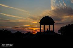 Inevitable (silentandy) Tags: silhouette canon photography eos three birmingham memorial war couple glow mark iii andrew watson 5d bandstand beacon aldridge barr walsall sunet mk3 streetly