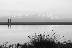 Blowin' clouds away (Francis Gordon Moore) Tags: sea reflection water clouds mare biancoenero abstact