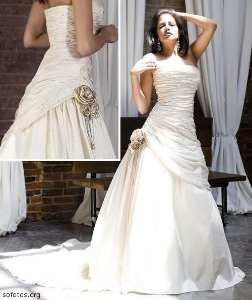 Vestido de noiva tomara que caia lindo