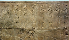 Lion Hunts of Ashurbanipal, soldiers (profzucker) Tags: sculpture london art ancient iraq lion palace relief beginning britishmuseum gypsum tigris mosul hunt assyrian excavated ashurbanipal neoassyrian ninevah rassam 645bce