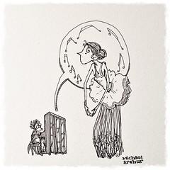 En Pointe (inklines) Tags: blackandwhite ballet music art illustration comics sketch ballerina drawing cartoon piano sketchbook comix pointe penandink michaelarthur originalfilter uploaded:by=flickrmobile flickriosapp:filter=original