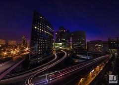 La Dfense - Sunset/Night (JSinnay) Tags: sunset paris night canon eos la long exposure 7d defense
