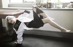 first (failed) levitation attempt (yushicheng) Tags: window lace levitation portraiture ambient float
