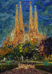Sagrada Familia Gaudí (Arturo Espinosa) Tags: barcelona familia gaudí sagrada oilpaletteknife