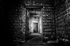 Glow of a Ghost (TS446Photo) Tags: old light white man london station silver dark underground grit nikon df spirit ghost north tube pro hood noise fx islington highbury overground faint dx 1735mm hooded brik gool efex dissused undergrounf d7000 ts446