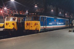 50030 London Paddington 1988 (jonf45 - 2.5 million views-Thank you) Tags: london english electric br diesel 4 rail trains class type paddington hoover british locomotive network southeast 50 railways repulse nse 50030 d400s