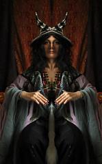 Witch (martikson) Tags: light portrait colour witch clothes bizarre martikson