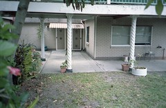 Porch - Southport, QLD. (frontdrive34) Tags: film kodak australia olympus qld queensland pointandshoot portra southport compact goldcoast portra160 mju1