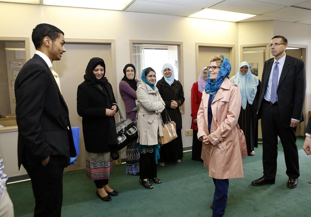 "kathleen muslim Calling the quebec city attack a ""cowardly act of terror,"" premier kathleen wynne visited a downtown toronto mosque to offer words of comfort to muslims and send a broader message."
