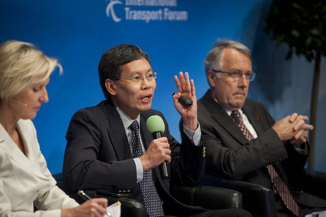 Tuck Yew Lui speaking during the Panel Session: Big Data in Transport