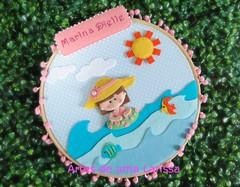 Marina (Artes de uma Larissa) Tags: praia feitoàmão peixe bebê feltro menina nascimento brincadeira maternidade quadrinho portadematernidade enfeitedeporta quartodemenina nomebordado