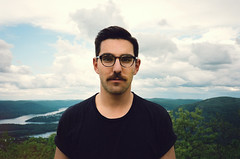 Mt. Taurus, NY (Ryan Verissimo) Tags: portrait mountain lake ny film nature self 35mm kodak hiking 400 mustache portra selfie