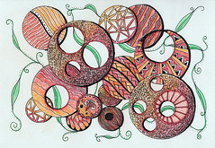 From my sketchbook (Amaryllis Creations) Tags: coloredpencil zentangle