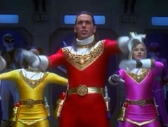 Power Rangers Zeo (Guardian Screen Images) Tags: show pink red jason david male men yellow frank tv ranger oliver power thomas no helmet 1996 super tights tommy hero superhero males series heroes superheroes tight rangers spandex lycra zeo helmetless