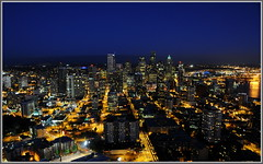 Downtown Seattle (tdlucas5000) Tags: seattle city skyline night lights long exposure downtown shot space needle