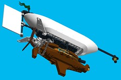 Airship Scout 4 (turbokiwi) Tags: sky lego pirate blimp airship steampunk floatingrock