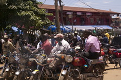 Taxi station in Kampala